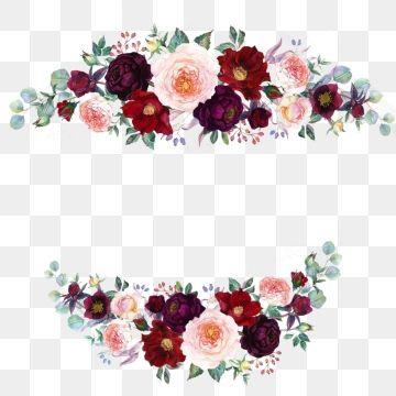 Watercolor Flowers Png Images Vetores Florais Molduras Para