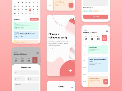Calendar Schedule Management App UI Kit