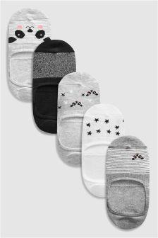 Panda Pattern Invisible Trainer Socks