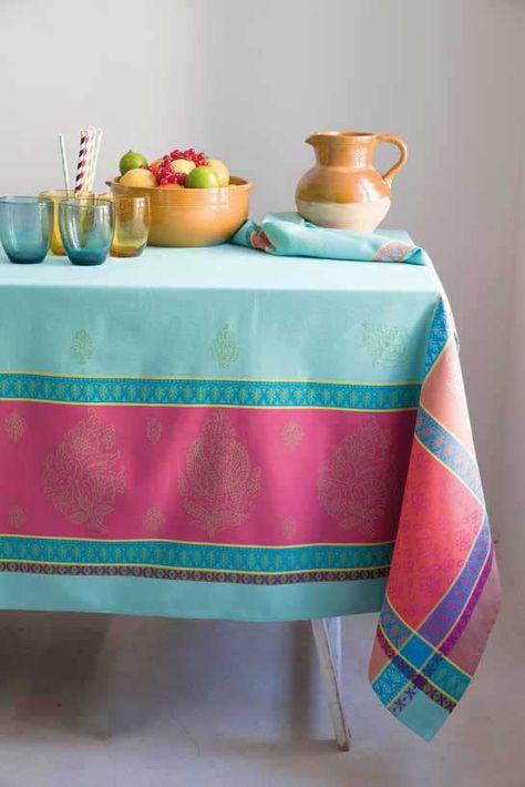 Jacquard Rectangle Tablecloth Cassis By Marat D Avignon En 2020