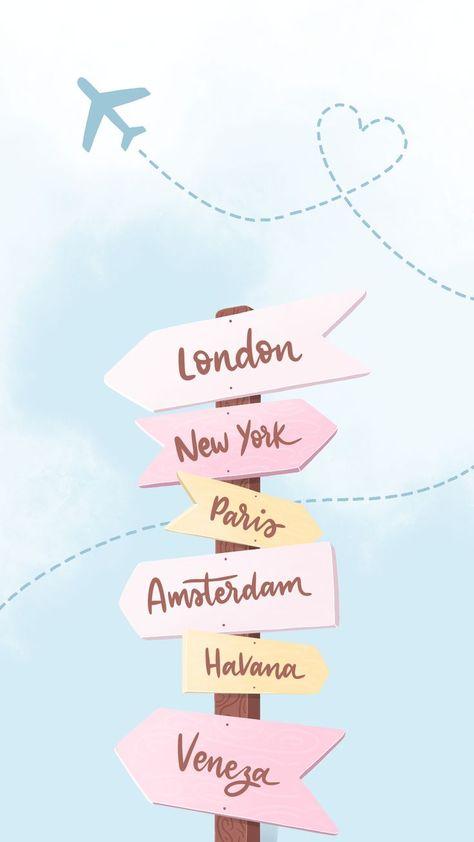 Wallpaper Volta ao Mundo by Gocase, London, New York, Paris,... #wallpaper