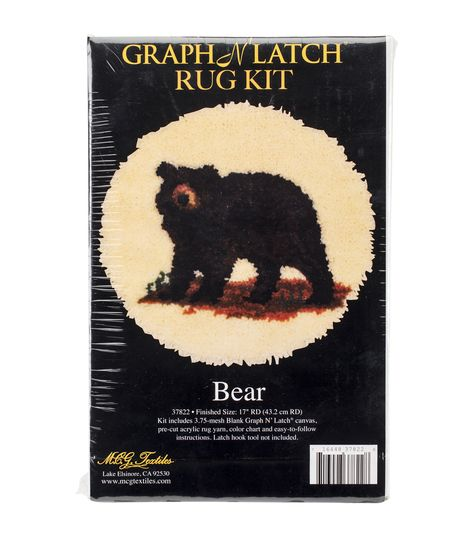 Latch Hook Rug Making Kits Ladybug Bear Dog Cat Embroidery Kit DIY For