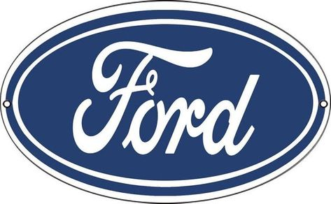 Ford Automobile Sign Oval 9 X 14 Inch 24 Gauge Metal Usa Made