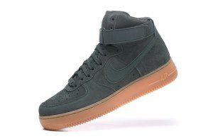 Mens Womens Nike Air Force 1 High 07 LV8 Suede Vintage Green Gum Medium Brown Ivory AA1118 300 Running Shoes aa1118 300