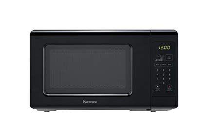 Kenmore 70719 Compact Countertop Microwave 0 7 Cu Ft Black