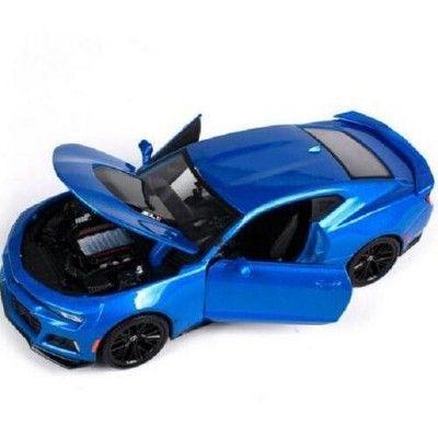 2017 Chevrolet Camaro Zl1 Blue Metallic 1 24 Diecast Model Car By Maisto In 2021 Chevrolet Camaro Zl1 Diecast Model Cars Chevrolet Camaro
