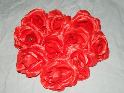 50 Pcs Red Rose Wholesale Silk Flower Heads Artificial Rose Heads 2