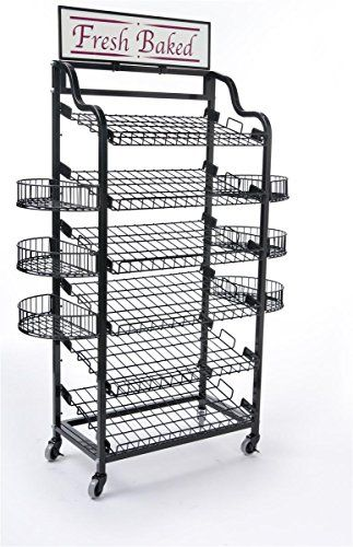 355w Wire Storage Shelving With 6 Tilting Shelves Bakers Rack With