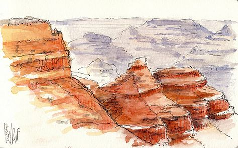 Grand Canyon Aquarelle Carnet De Voyage Voyage