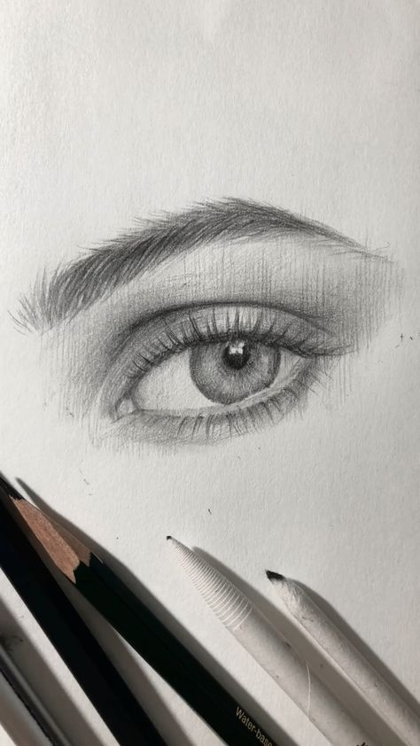 One example how I draw an eye.