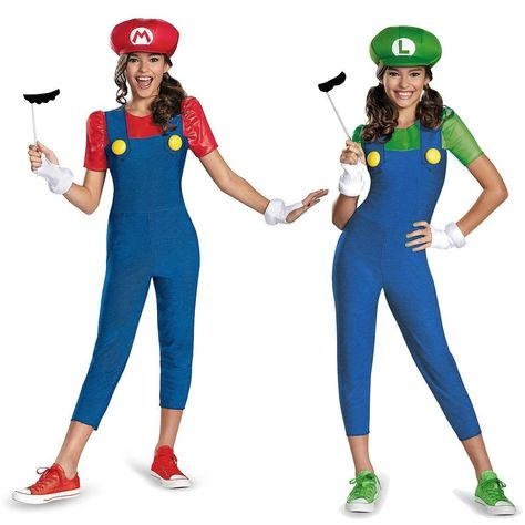 18 71 Mario And Luigi Costumes Kids Female Super Mario Bros