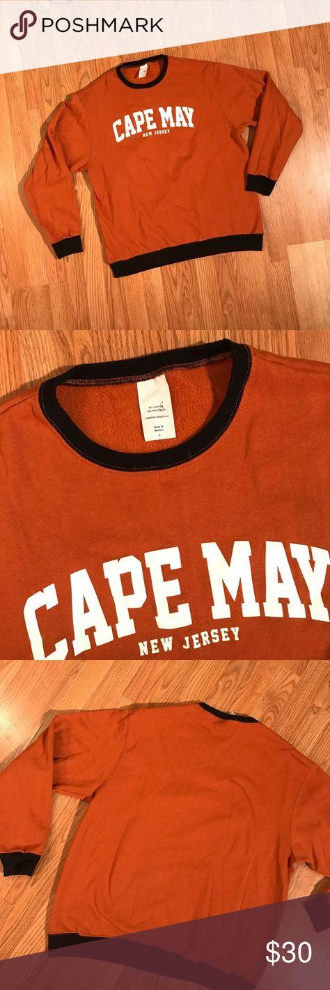 pullover vintage • orange CAPE MAY...