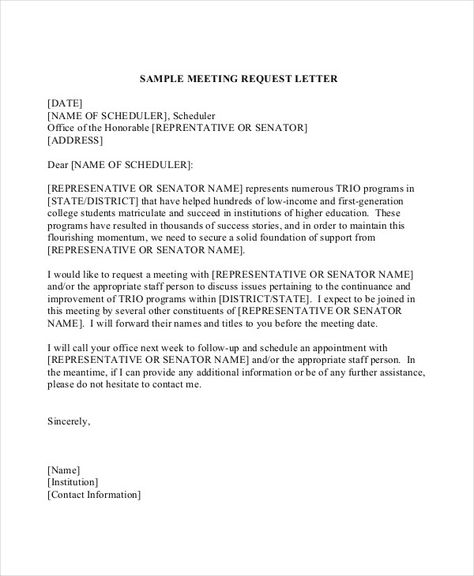 letter sample business format request meeting proper formats for - linking agreement template