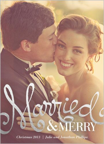 5 Sweet Holiday Cards For Recently Married Couples With Images