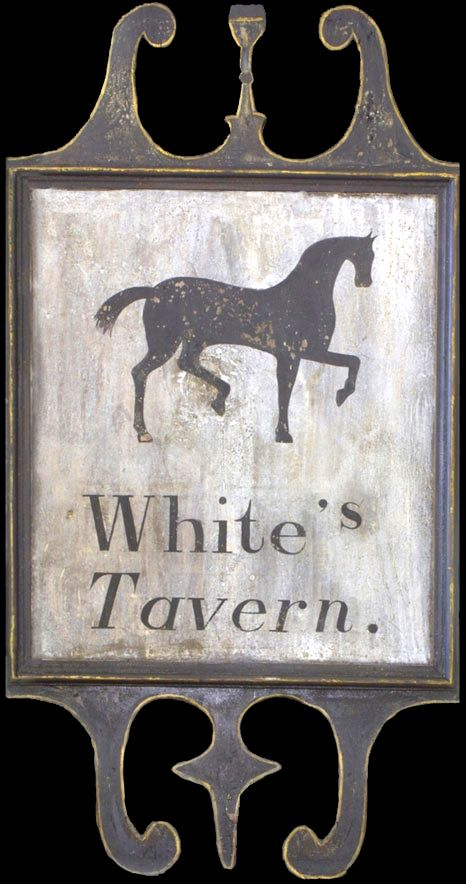 Primitive Colonial The White Sheep Inn Tavern Sign Laser Print 8x10