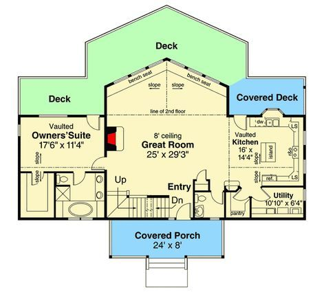 Plan 72896da Lodge Like Living With Amazing Views Home Building Design Lodge Style House Plans House Plans