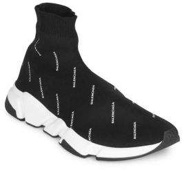 Balenciaga Allover Logo Speed Sock