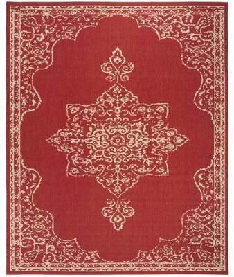 Bungalow Rose Brodick Red Cream Indoor Outdoor Area Rug Wayfair Square Area Rugs Area Rugs Rugs