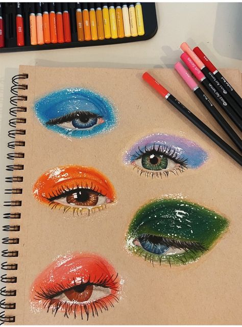 See more of teenthings's content on VSCO. Eye Art, Eye Drawing, Pencil Art, Prismacolor Art, Art Painting, Art Sketchbook, Realistic Art, Painting Art Projects, Color Pencil Art