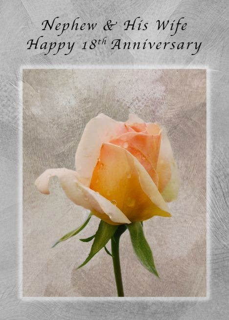 Happy 18th Anniversary For A Nephew And His Wife Fresh Rose Card Ad Sponsored Anni Happy 54th Anniversary Happy 41st Anniversary Happy 10th Anniversary