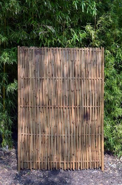 These Rustic Bamboo Panels Are Fashioned From Split Woven Bamboo