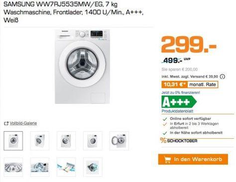 SAMSUNG WW7RJ5535MW EG Waschmaschine