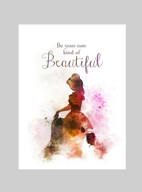 Belle Quote ART PRINT Beauty and the Beast, Princess, Nursery, Gift, Wall Art, Home Decor
