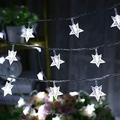 49 FT Plug in Fairy Light White 100 LED Christmas Snowflake String Lights