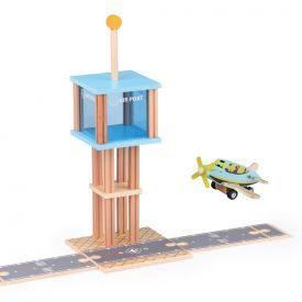 Nexplay Airport Tower Wooden Educational Toy