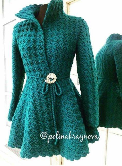 Free Crochet Patterns For Women s Coats : 1000+ ideas about Crochet Coat on Pinterest Crocheting ...