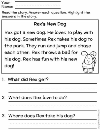 Free First Grade Reading Comprehension Finding The Main Idea