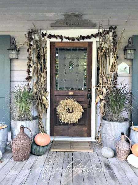 Autumn Front Porch Inspiration Home Design Do It Yourself