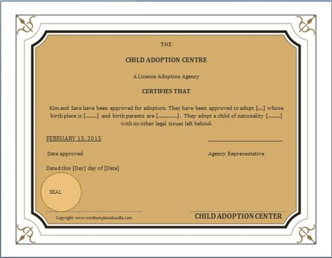 When a child is adopted, an amended birth certificate (ABC) is - free birth certificate templates