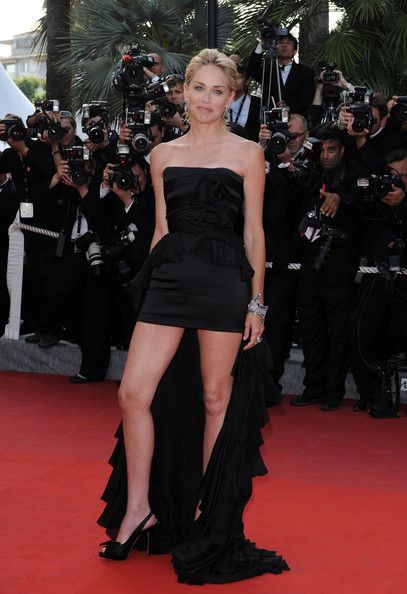 Sharon Stone in a Black Fishtail Dress, 2009 - The Most Daring Dresses on the Cannes Red Carpet - Photos