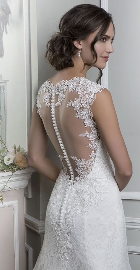 Lillian West - 6370  Wedding dress back detail