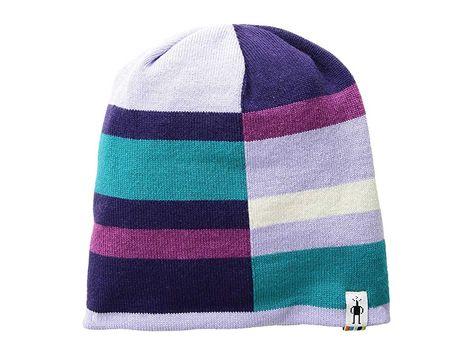 84133365e99 Smartwool Kids Wintersport Stripe Hat (Little Kids Big Kids) (Purple Mist  Heather) Beanies. Get them outside to run around by keeping them warm in  the plush ...