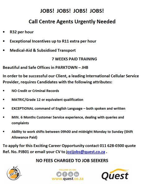 Inbound Call Centre Agent - Sunninghill\/JHB - Job #72005 - inbound call center agent sample resume