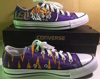 Lsu shoes, Converse, Chuck taylor sneakers