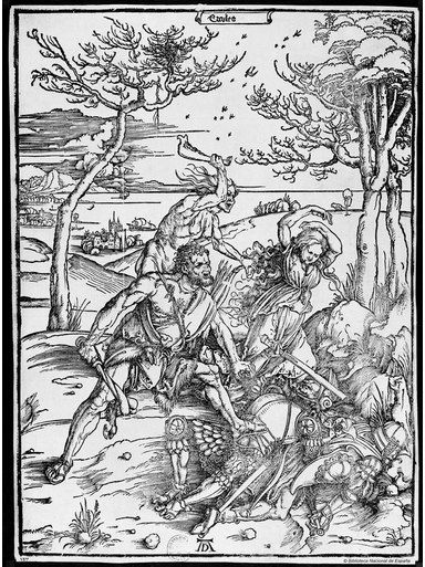 cuatro jinetes y el Apocolypse Fine Art Print//cartel Albrecht Durer