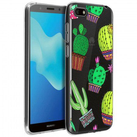 Coque souple Huawei Y5 2018 / Honor 7S motifs Cactus - Transparent ...