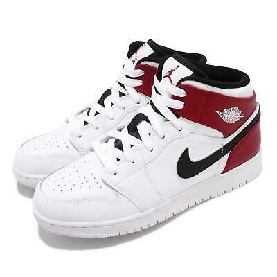 Ad(eBay Url) Nike Air Jordan 1 Mid GS White Black Gym Red Chicago ...