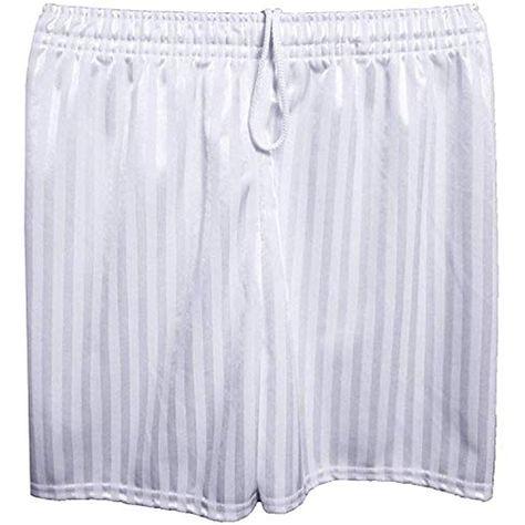 Unisex Boys Girls Kids Childrens School PE Sports Shadow Stripe Football Shorts