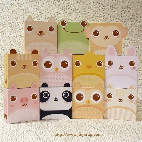 {DIY Printable Animal Gift Boxes}