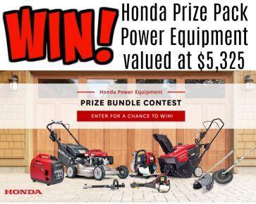 Honda Contest for Canada  The Honda 2017-18 Power Equipment