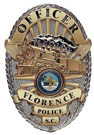 Us State Of South Carolina City Of Florence Police Department Badge Police Police Badge Sheriff Badge