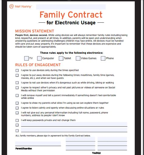 A parent-child behavior contract can be helpful for kids with - nanny agreement contract