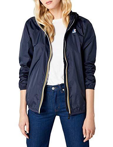 buy popular a02e5 d7483 K-Way le Vrai 3.0 Claudette Giacca Impermeabile Donna Blu ...