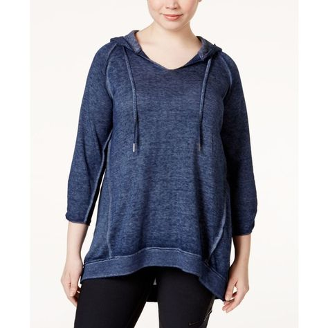 264a0090ac9 Calvin Klein Performance Plus Size Hooded Tunic ( 69) ❤ liked on Polyvore  featuring plus size women s fashion