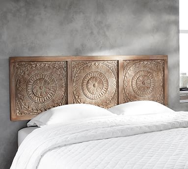 Alia Carved Wood Headboard Carved Headboard Headboards For Beds