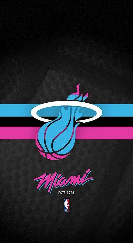 Miami Heat Vice Nba Iphone X Xs 11 Android Lock Screen Wallpaper Miami Heat Miami Heat Basketball Nba Miami Heat